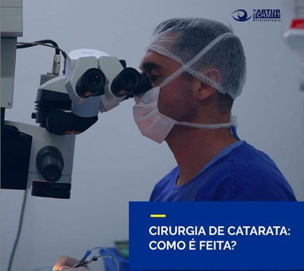 como é feita a cirurgia de catarata