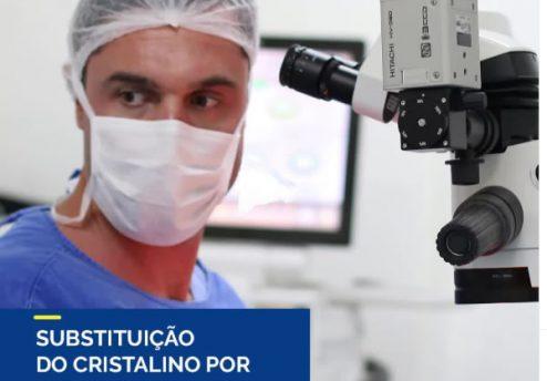 substituição do cristalino por lente intraocular